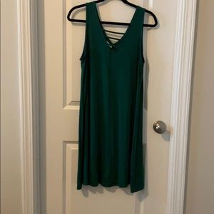 Hunter green swing dress